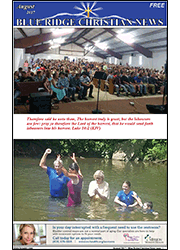 Front Cover of the August, 2017 Blue Ridge Christian News newspaper