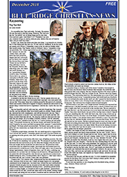 Image of the front cover of the December 2018 issue of the Blue Ridge Christian News