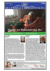 Cover of the December, 2016 Blue Ridge Christian News
