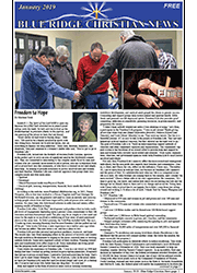 Photo of the front page of the January, 2019 issue of the Blue Ridge Christian News