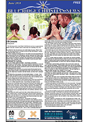 Cover of the June, 2018 Blue Ridge Christian News