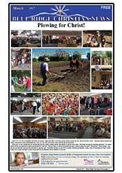 The front cover of the March, 2017 issue of the Blue Ridge Christian News