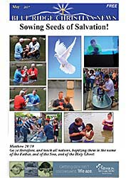 Front page of the May, 2017 issue of the Blue Ridge Christian News