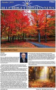 Photo of the front page of the October , 2019 Blue Ridge Christian News