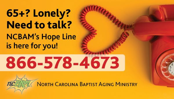 Hope Line Available – NC Baptist Aging Ministry