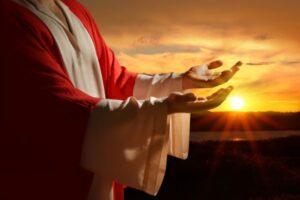 Jesus Praying Easter we are living words marlene houk burke county