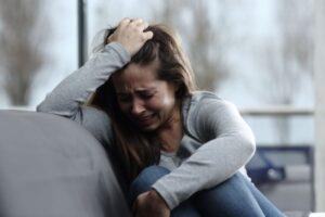 Sad woman crying aloneness broken marriage God Intimacy
