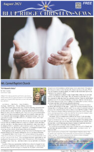 Blue Ridge Christian News August 2021 Front page