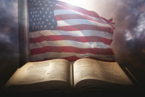 what can we do when foundations fall american flag and Bible Prayer